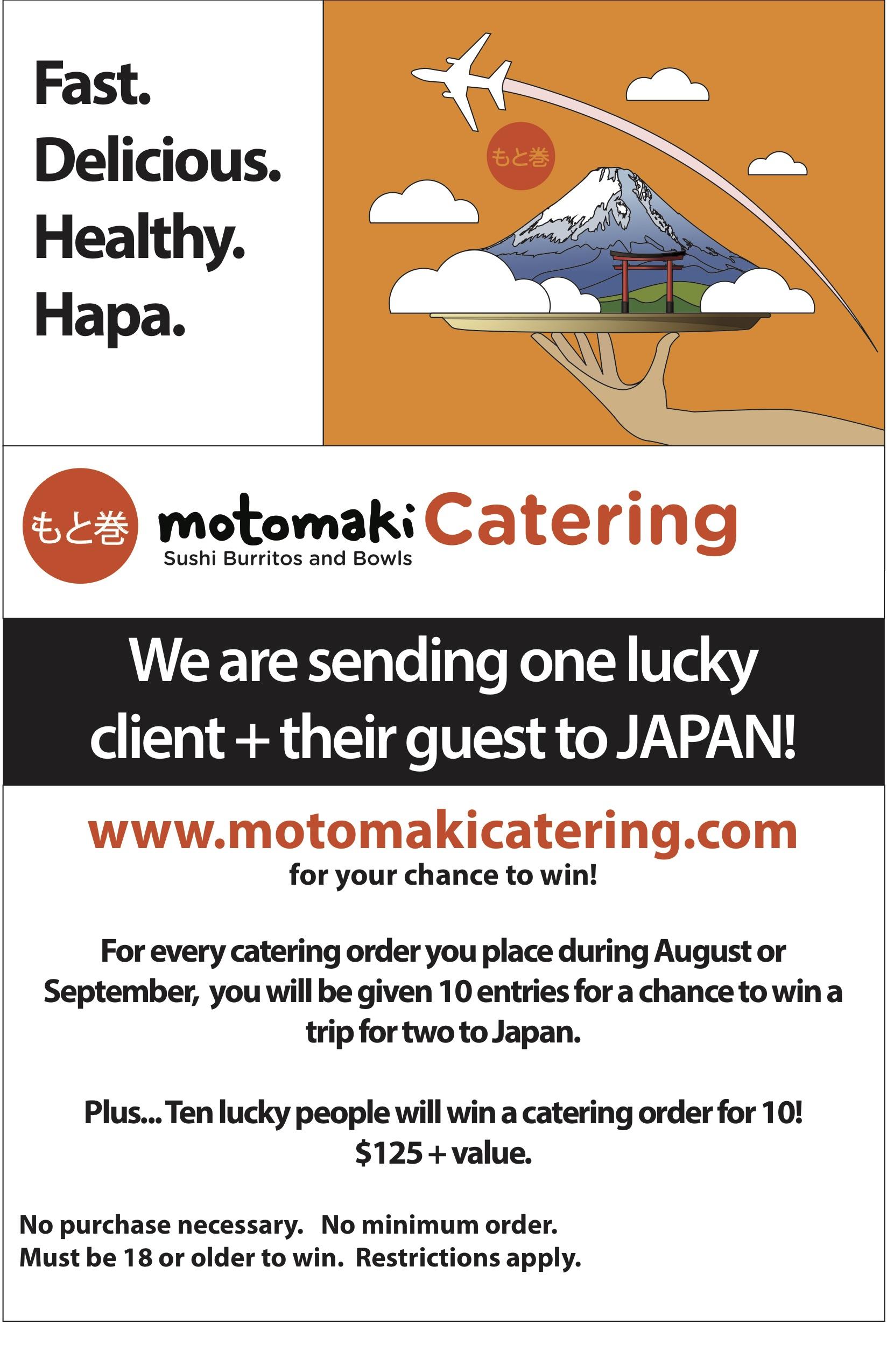 motomaki free trip to japan