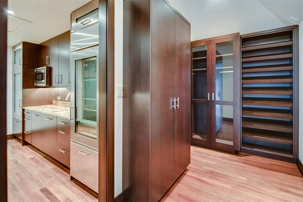 master closet with kitchen