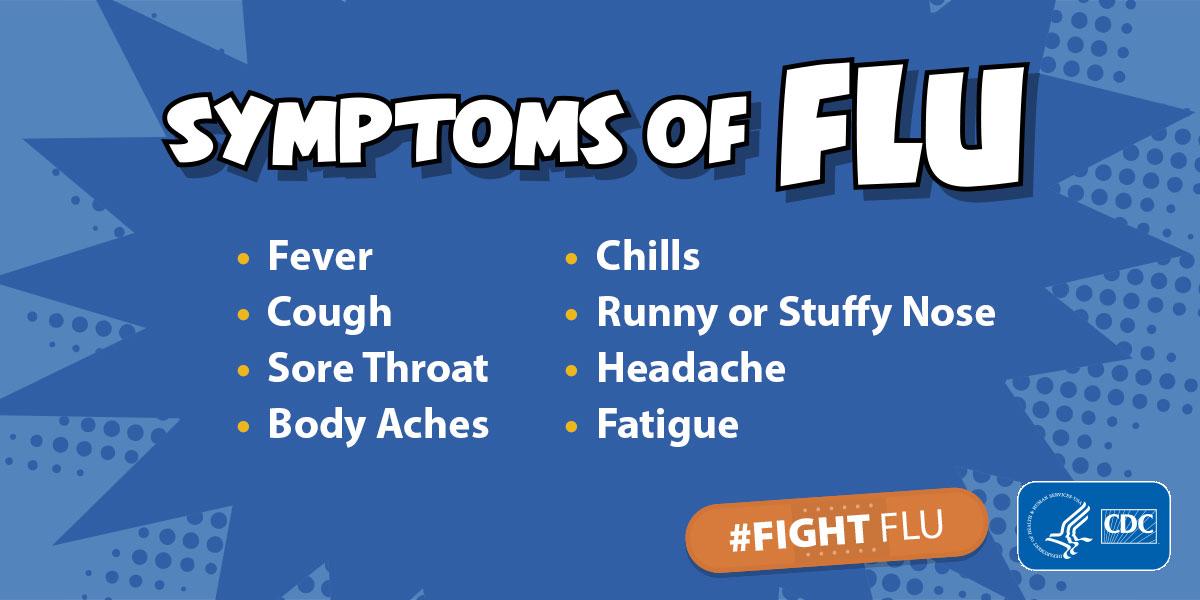 flu symptoms, CDC