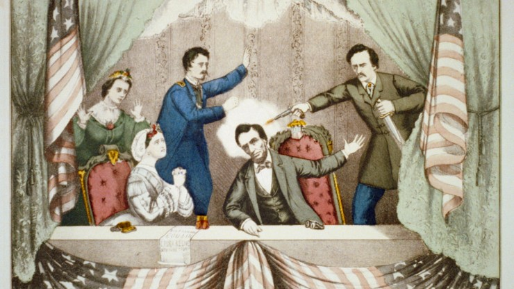 illustration of lincoln's assassination, courtesy of library of congress
