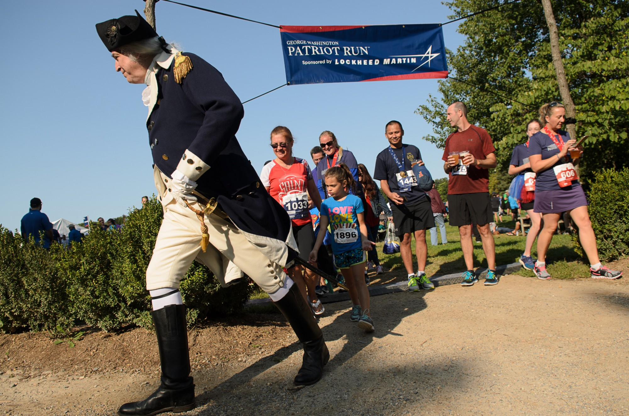 George Washington, runners, race