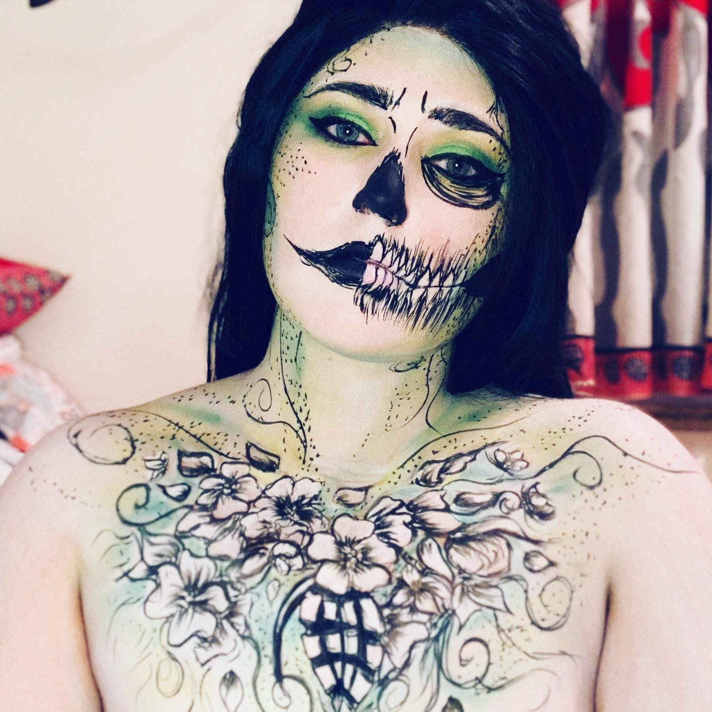 skull makeup ideas for halloween