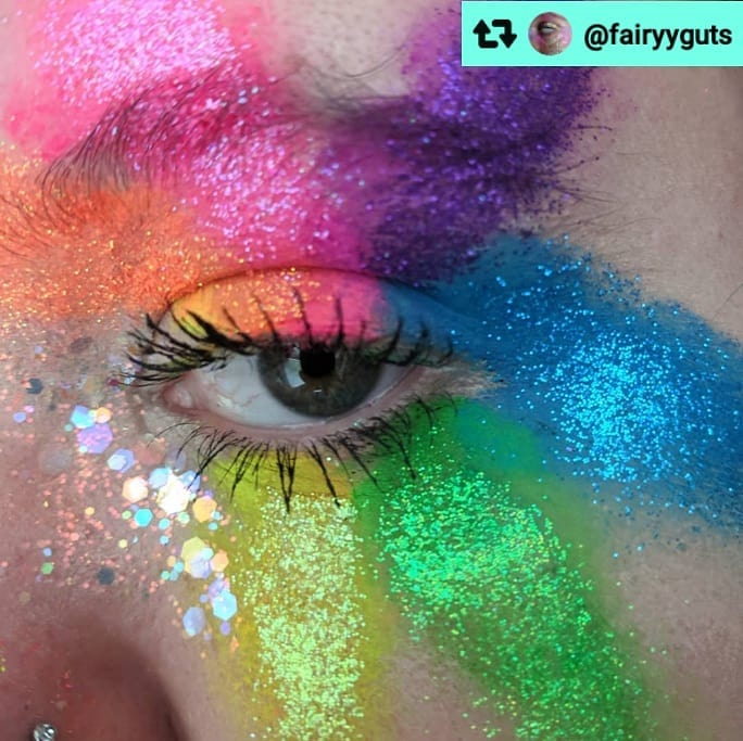 Rainbow eye glitter