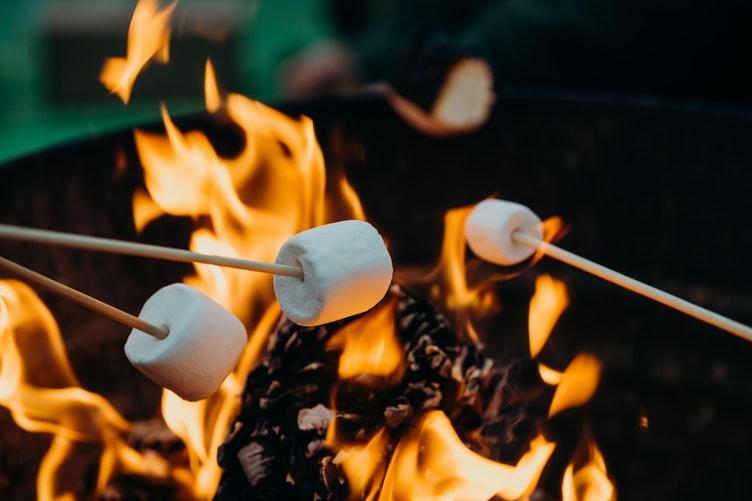 marshmallows, campfire