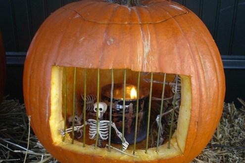 pumpkin diorama
