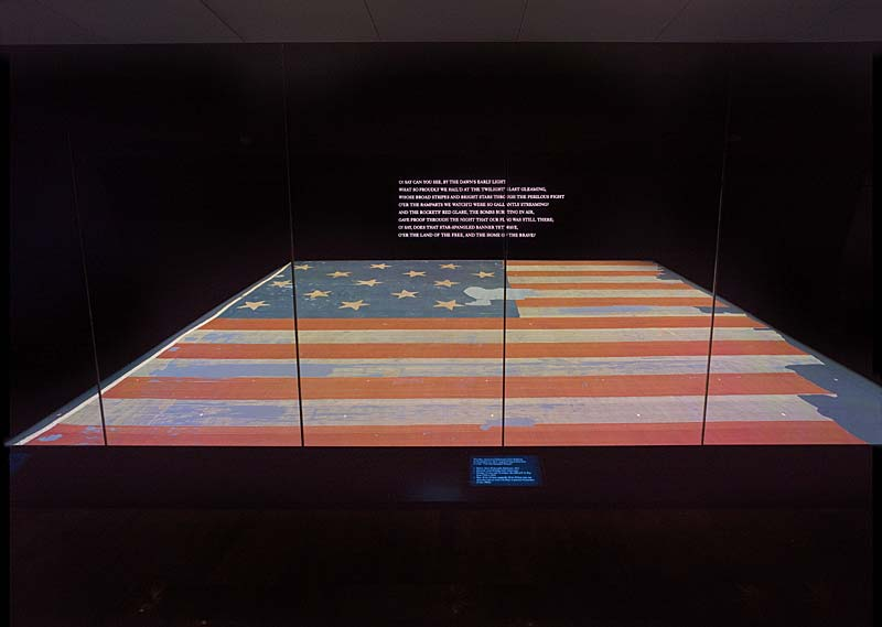 original flag in national museum of american history dc