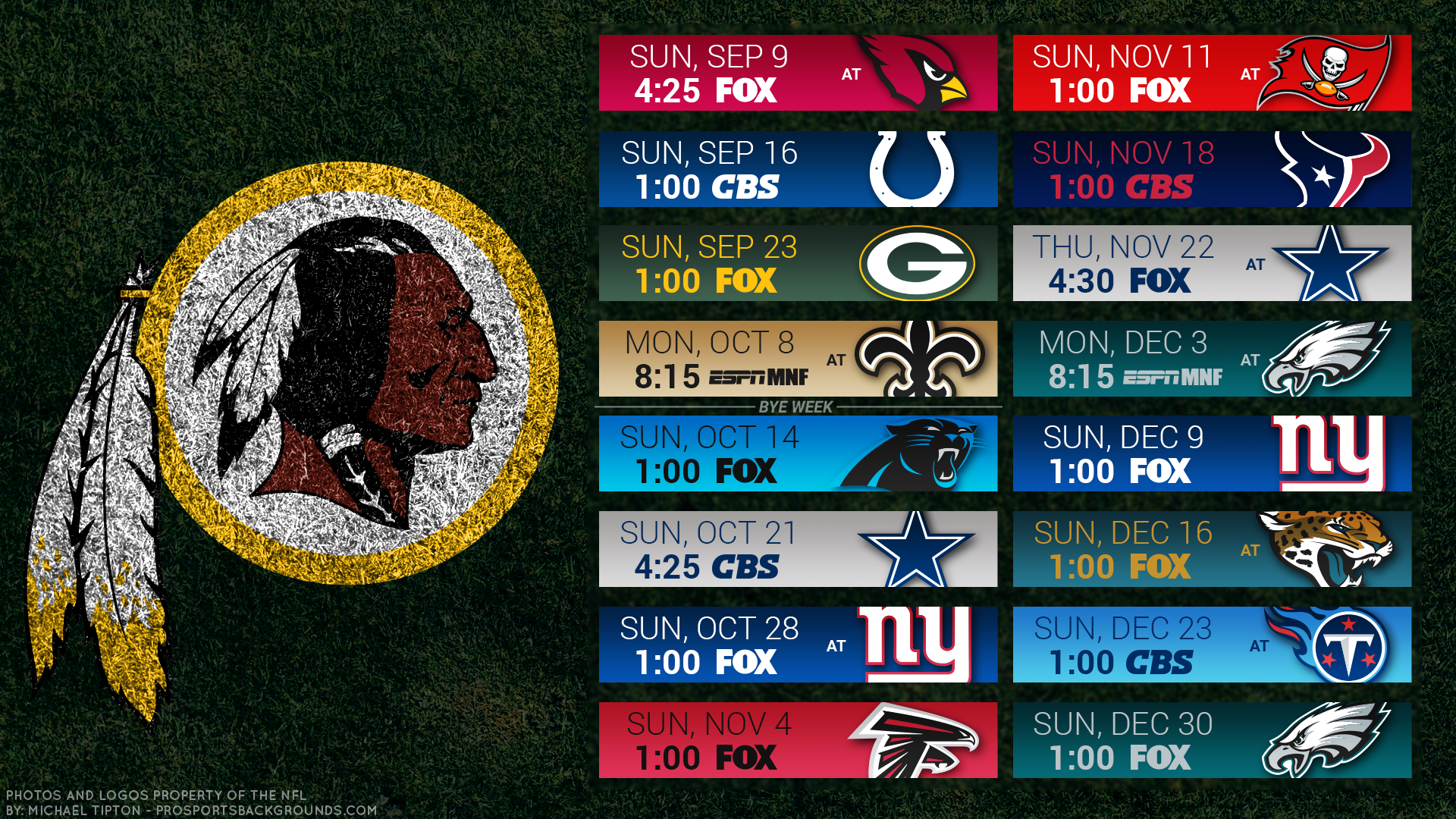 picture about Redskins Printable Schedule referred to as Terminate Your Sunday Options -- Its Year for Redskins Soccer!