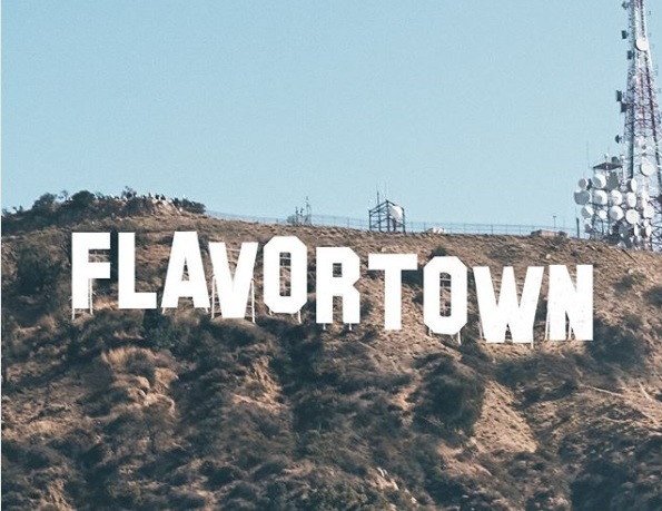 Flavortown Hollywood Sign Guy Fieri