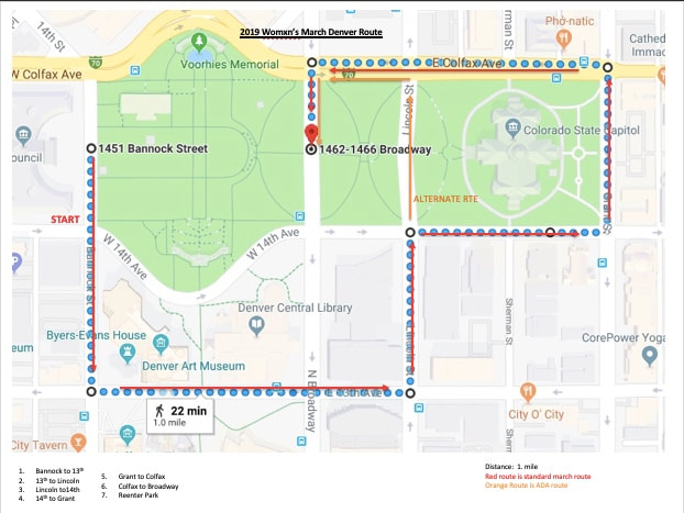 Womens March Denver Route