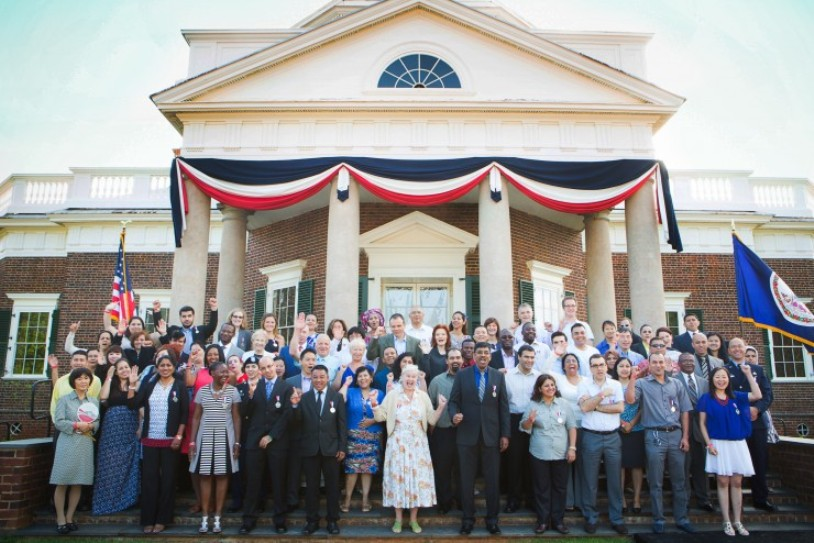Monticello Thomas Jefferson Declaration of Independence Naturalization Ceremony