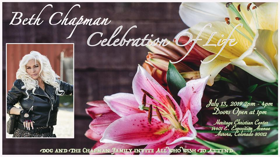 Invitation to memorial Beth Chapman