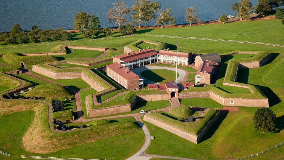 aerial view of fort mchenry in baltimore md