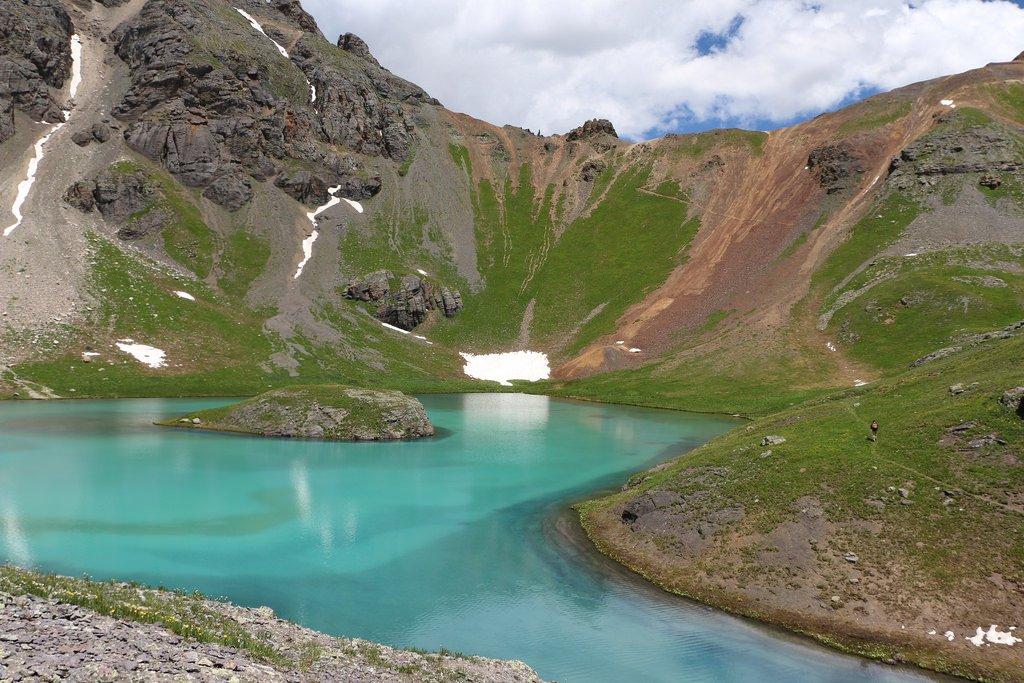 Island lake near silverton, colorado