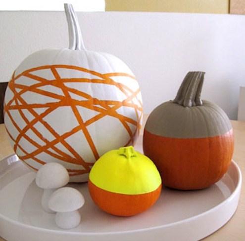 color-block pumpkin