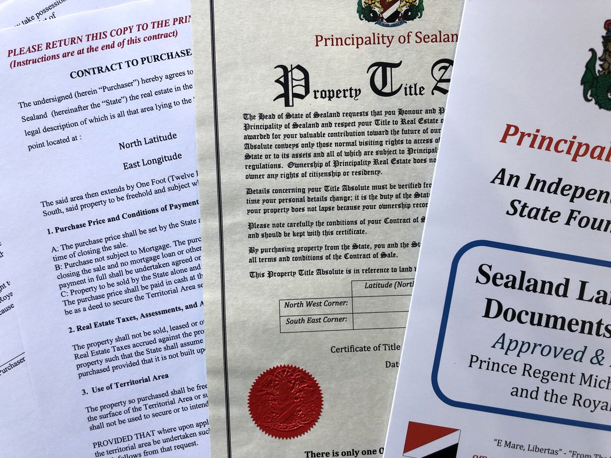 Sealand Royal Title Documents Weird Mothers Day Gifts