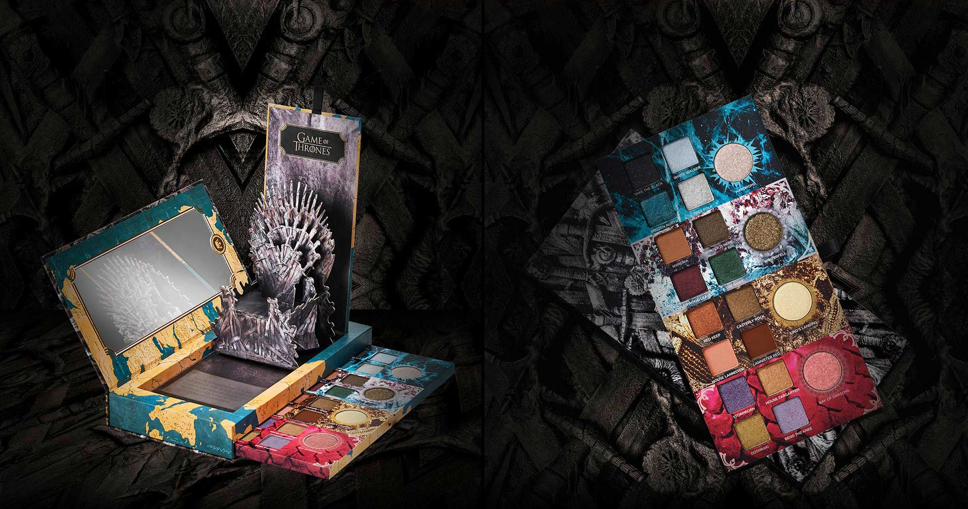 Game of Thrones eyeshadow palette, courtesy of Urban Decay
