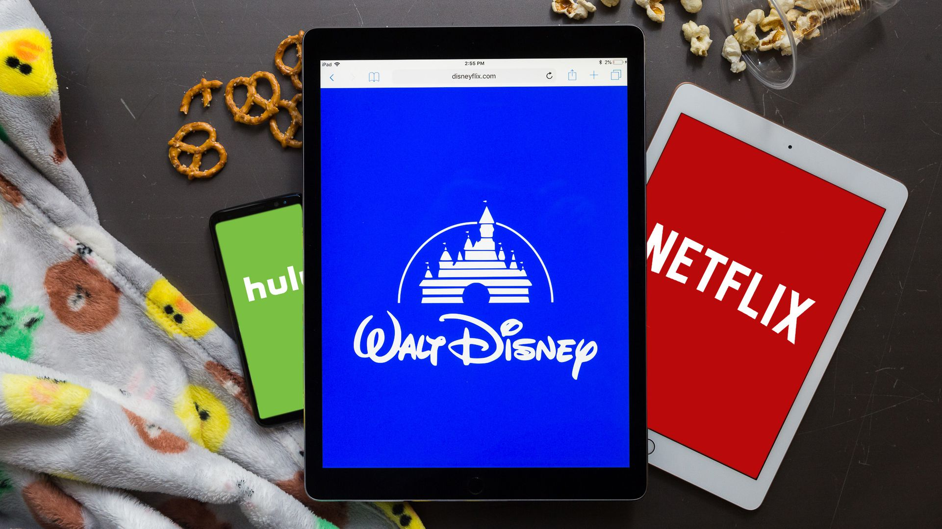 Disney Plus on Ipad Tablet Streaming Service Comparison Netflix Photo