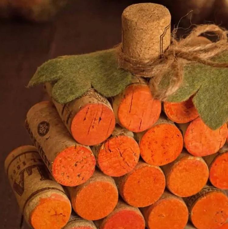 pumpkin made of corks