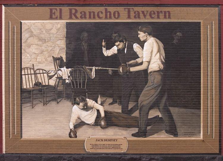 Durango's Jack Dempsey mural.