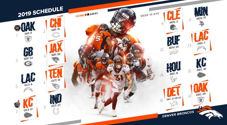 64027a9e3128 Denver Broncos  2019 Season Schedule Released