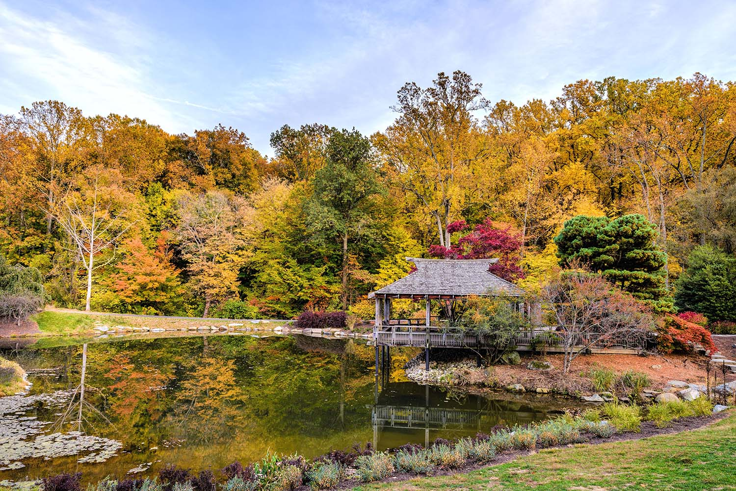 Brookside Gardens in fall