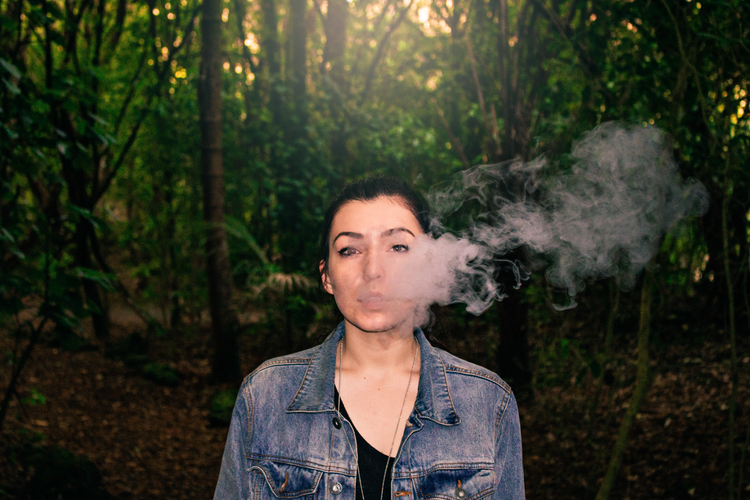 vaping woman