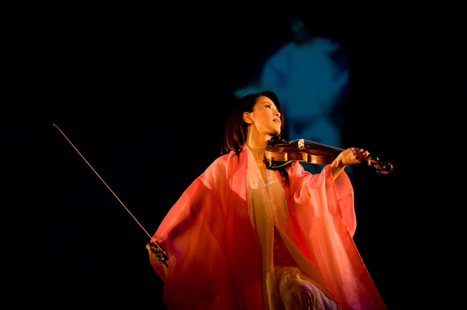 cherry blossom festival, violin