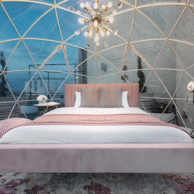 Glamping globe, courtesy of the Watergate Hotel Instagram