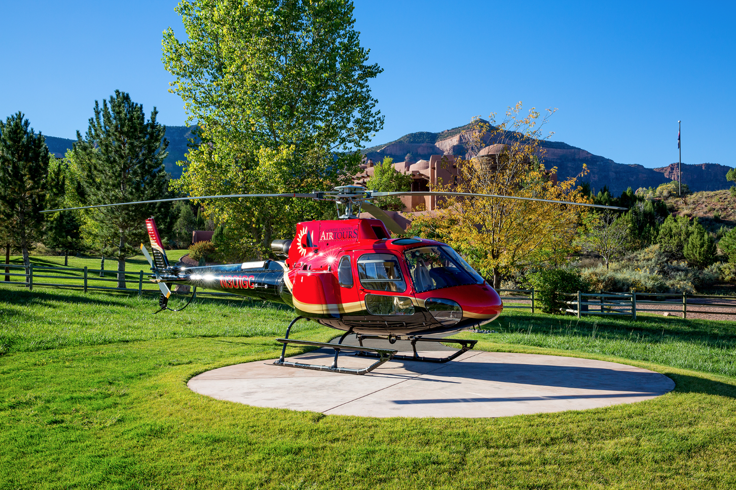 Helipad at West Creek Ranch