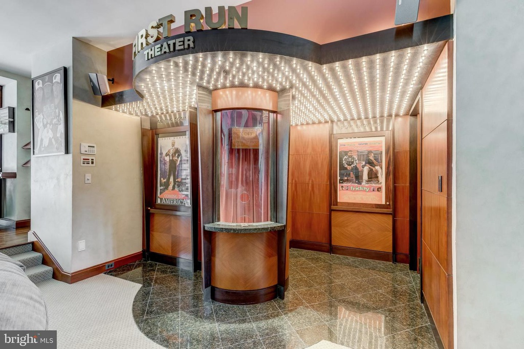 home theater entrance