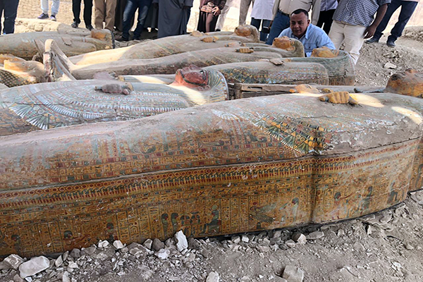 ancient coffins