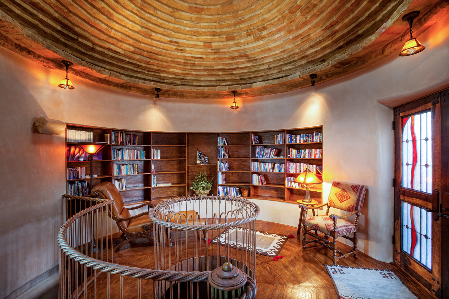 Two story library at West Creek Ranch