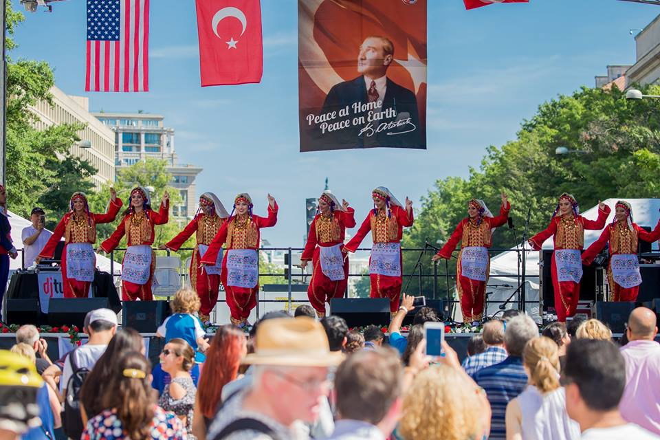 Turkish dancers, stage