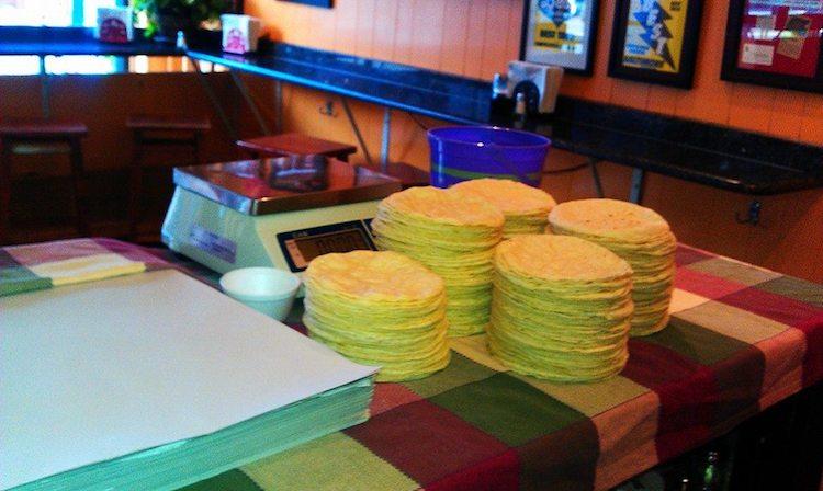 Tortillas from Tortilleria Sinaloa