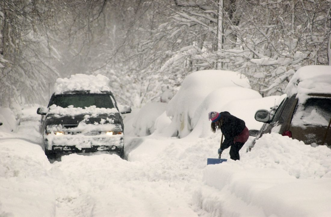 Digging out in 2003. AP File Photo.