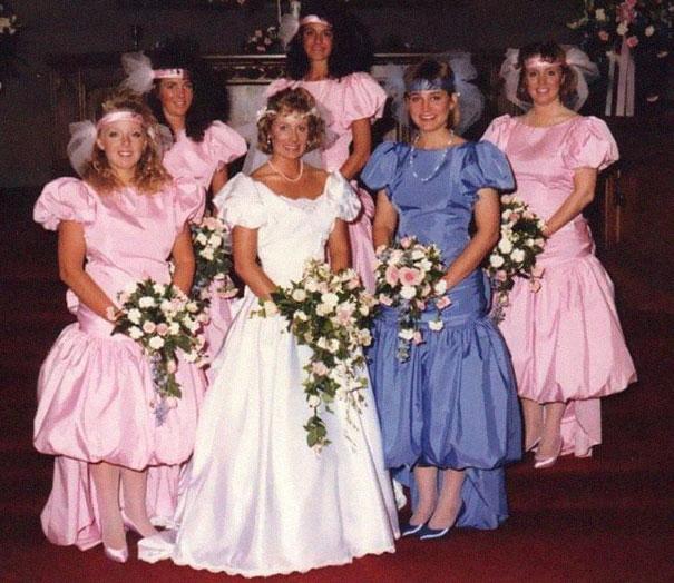 1980s bridesmaids dress
