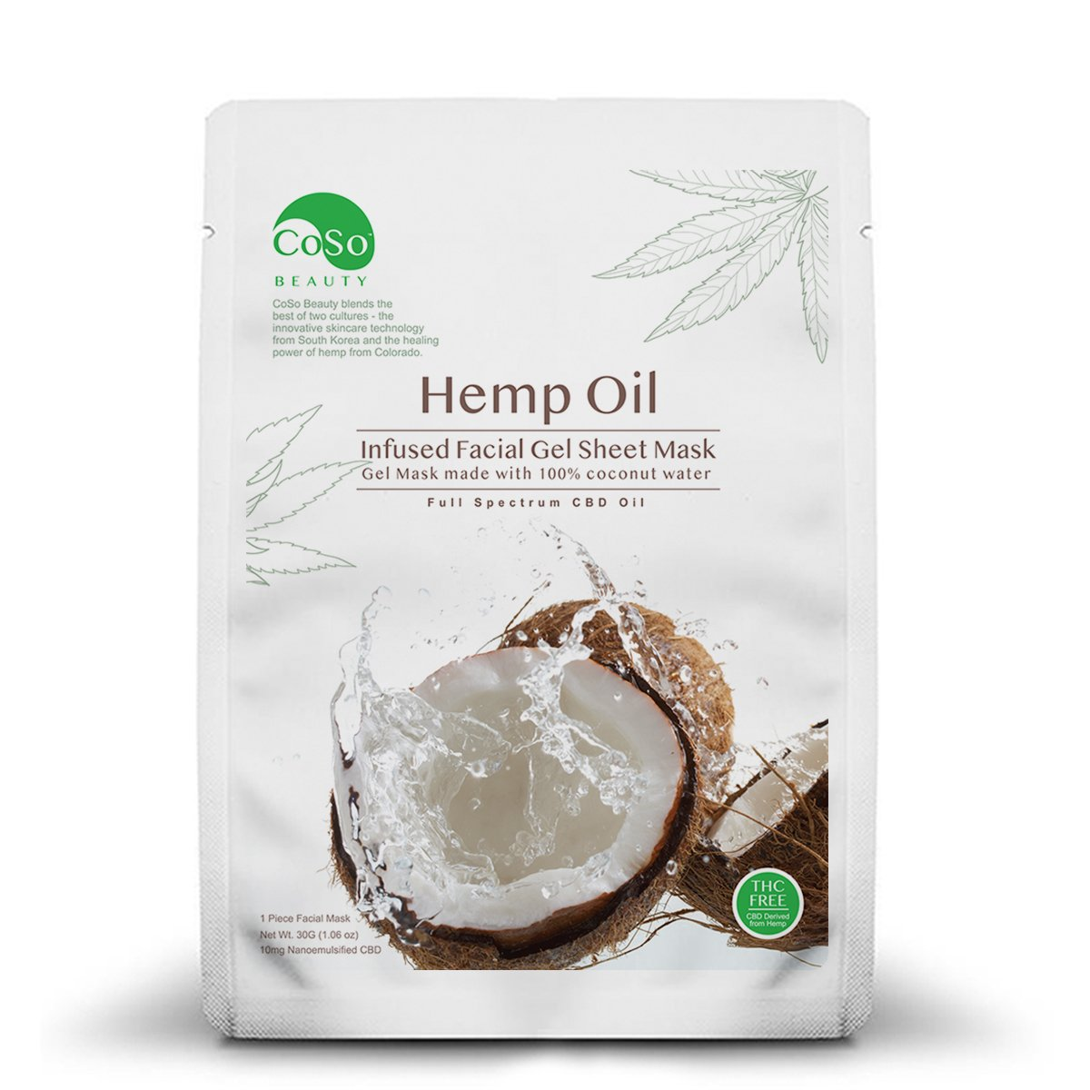 CoSo CBD Coconut Gel Sheet Mask