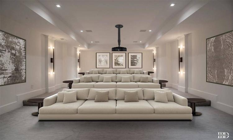 comfy theater room