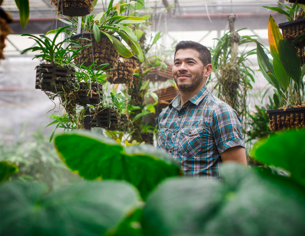 Amazon Horticulturist With Vegetables Grown at Amazon