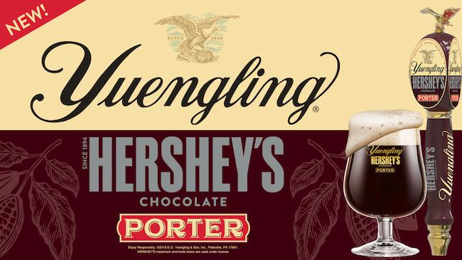 Yuengling Hershey's Chocolate Porter, courtesy Hershey's and Yuengling