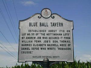 Blue Ball sign