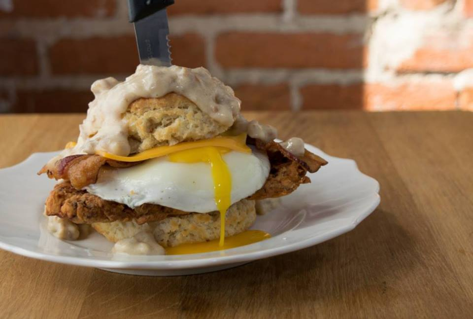 breakfast sandwich at spoons cafe, courtesy of facebook
