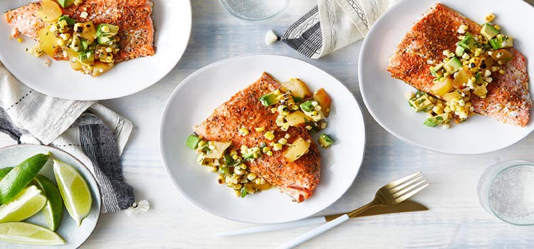 Baked salmon is an excellent dinnertime fish.