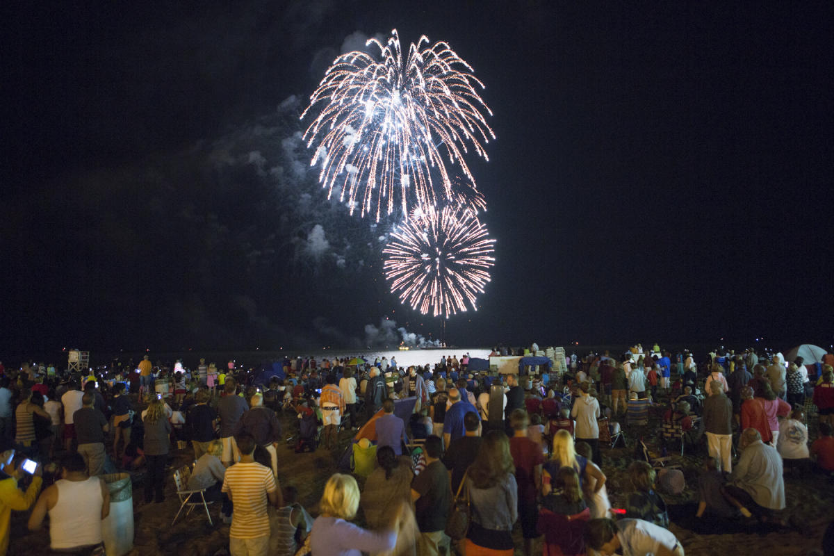 Oceanfront Fireworks