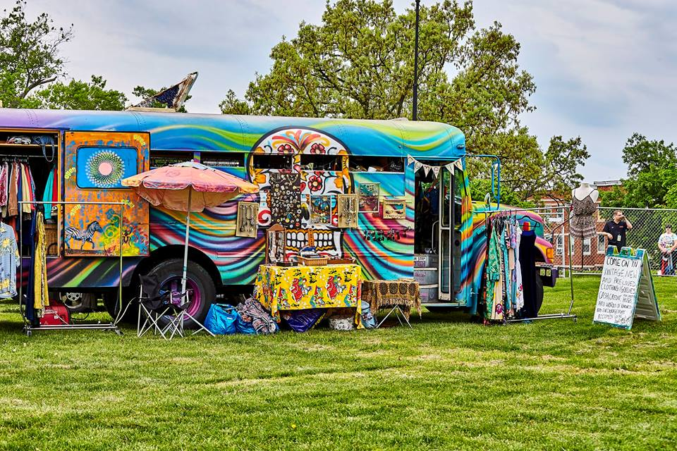 Gogo's vintage clothing bus, courtesy of Facebook