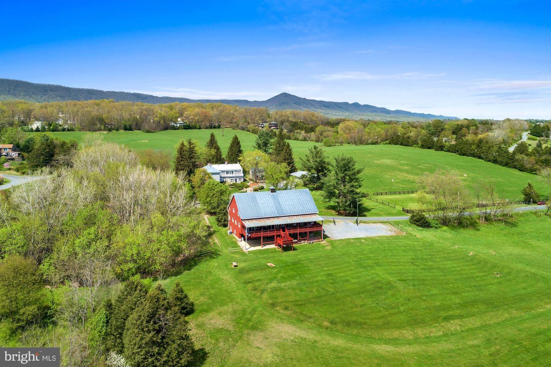farm, aerial view