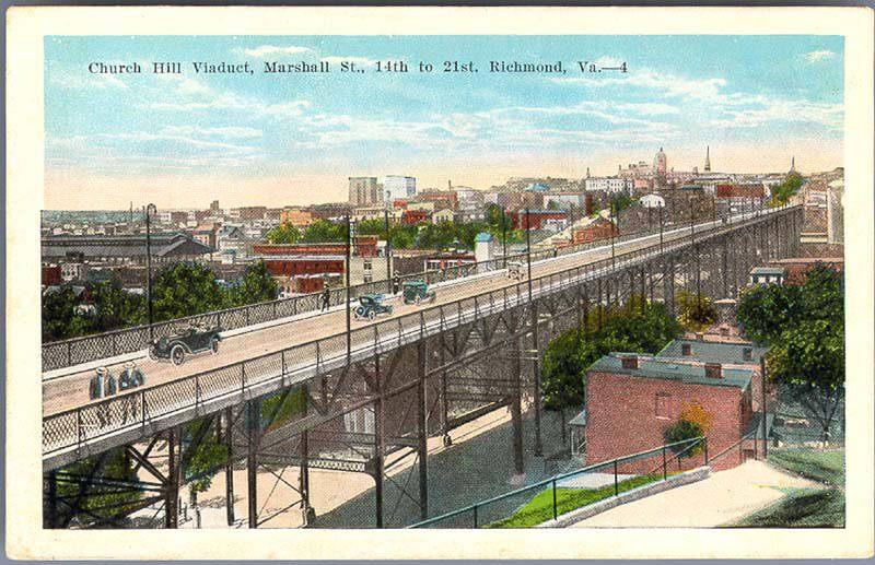 Church Hill Neighborhood Viaduct Vintage Photo in Richmond Virginia Courtesy of Flickr