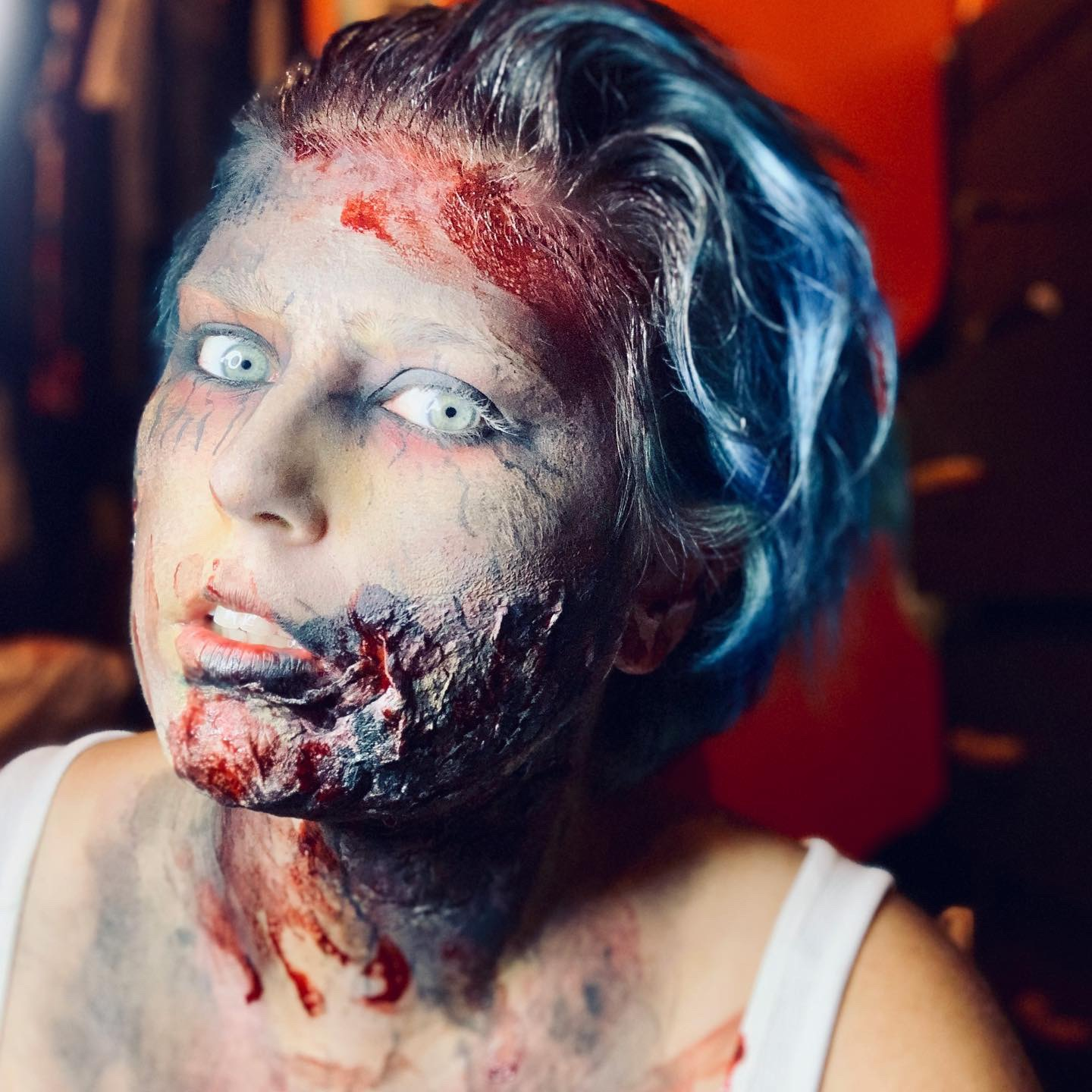 zombie, halloween horror-themed makeup look
