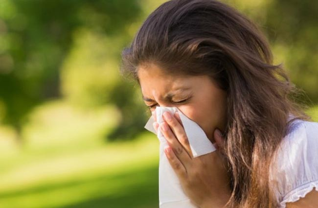 Pollen will irritate the nasal passages and cause us to sneeze.