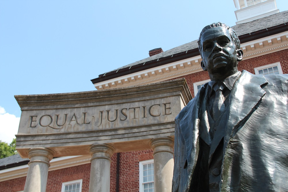 Thurgood Marshall memorial at State House in Annapolis